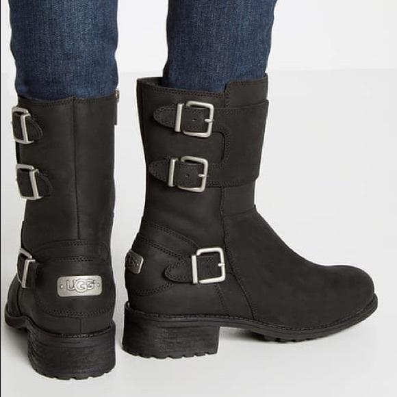 19b535c7ac8 NIB UGG Wilcox Leather Moto Boots Women size 7